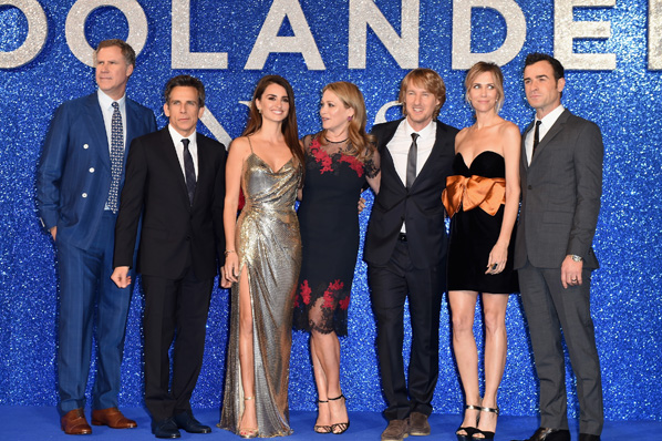 "LONDON, ENGLAND - FEBRUARY 04:  Will Ferrell, Ben Stiller, Penelope Cruz, Christine Taylor, Owen Wilson, Kristen Wiig and Justin Theroux attend a London Fan Screening of the Paramount Pictures film ""Zoolander No. 2"" at the Empire Leicester Square on February 4, 2016 in London, England.  (Photo by Ian Gavan/Getty Images for Paramount Pictures) *** Local Caption *** Will Ferrell;Ben Stiller;Penelope Cruz;Christine Taylor;Owen Wilson;Kristen Wiig;Justin Theroux"