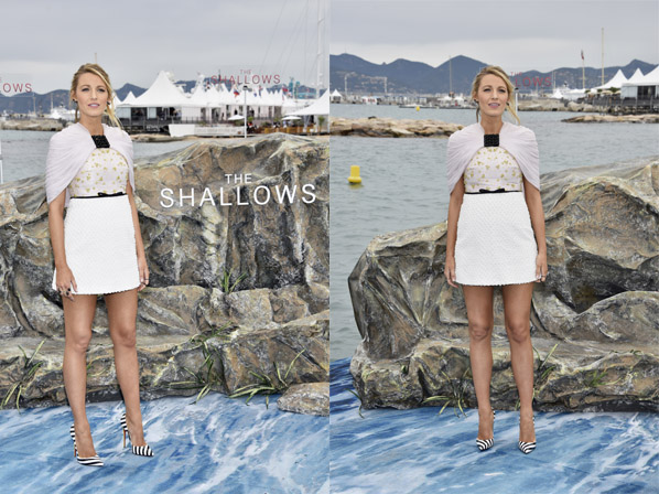 CANNES, FRANCE - May 13, 2016: Blake Lively at Columbia Pictures' THE SHALLOWS Photo Call during the 69th annual Cannes Film Festival at La Plage Majestic on May 13, 2016 in Cannes, France.