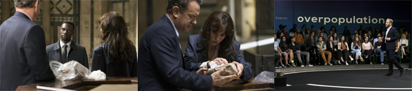 Langdon (Tom Hanks) and Sienna (Felicity Jones) discover Dante's Death Mask in the Baptistry in Columbia Pictures' INFERNO.